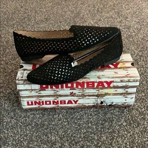 Black Perforated Flats/Loafers